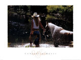Vaquera y caballo Arte por David R. Stoecklein