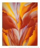Cana roja Láminas por Georgia O'Keeffe