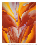 Red Canna Print by Georgia O'Keeffe