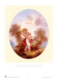 Cupid Between Roses Posters by Jean-Honoré Fragonard