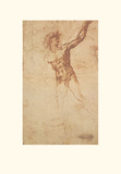 Study of a Standing Male Figure Prints by  Michelangelo Buonarroti