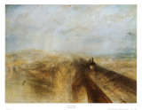 Rain, Steam and Speed Prints by J. M. W. Turner