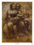 Santa Ana, la Virgen y el Niño Láminas por  Leonardo da Vinci