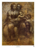 The Virgin and Child with St. Anne Posters by  Leonardo da Vinci