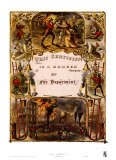 Certificate of Membership, Fire Department, 1877 Print by Currier &amp; Ives 