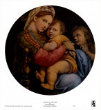 La Vierge à la chaise Affiches par  Raphael