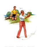 Le geste du golfeur Affiches par Norman Rockwell