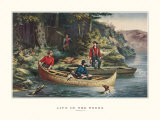 Life in the Woods Prints by  Currier & Ives