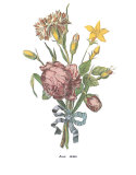Roses Print by Jean Louis Prevost