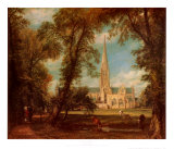 Salisbury Cathedral Prints by John Constable