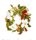 Magnolia Wreath Poster by Nancy Kaestner