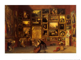 Gallery of the Louvre, 1831-33 Poster par Samuel Finley Breese Morse