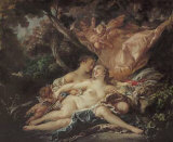 Jupiter in the Guise of Diana Poster by Francois Boucher
