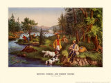 Hunting Fishing and Forest Scenes Posters by  Currier & Ives