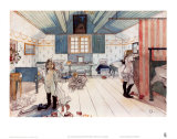 The Room of Mammy and the Small Girls Posters by Carl Larsson