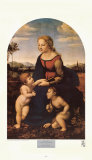 Madonna, La Belle Jardiniere Art by Raphael 