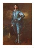 The Blue Boy Poster van Gainsborough, Thomas