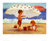 Primary Sand Talk Print by Carol Zink