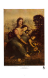 The Virgin and Child with St. Anne Print by Leonardo da Vinci