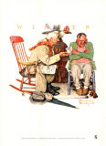 Endless Debate Print by Norman Rockwell