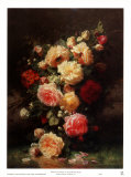Bouquet de Roses Posters by Jean Baptiste Claude Robie