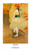 Dancer in Green Prints by Edgar Degas