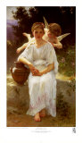 Whisperings of Love, 1889 Poster by William Adolphe Bouguereau