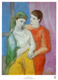 Les amoureux Affiche par Pablo Picasso