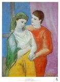 Los enamorados Lámina por Pablo Picasso