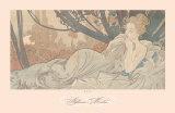 Crepúsculo Láminas por Alphonse Mucha