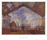 La Gare Saint-Lazare Posters by Claude Monet