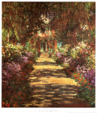 Footpath in the Garden Prints by Claude Monet