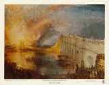 Incendie du Parlement Posters par William Turner