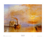 Das Kriegsschiff Temeraire Poster von William Turner
