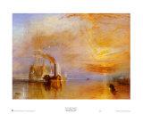 La Valorosa Temeraire Poster di William Turner