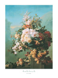 Roses and Other Flowers in an Urn Print by Pierre Bourgogne