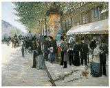 Paris on the Boulevard, 1890 Prints by Jean B&#233;raud