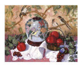 Trauben und Granatäpfel Poster von Francie Botke