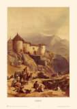 Hill Fort of Ghulab Sinj Art by David Roberts