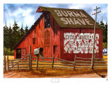 The Red Barn Poster by Alfred Owles