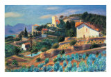 Riviera Hillside Art by William Glackens