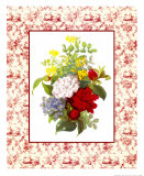 Camellias and Toile Poster