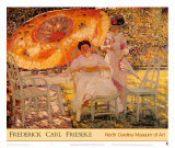 The Garden Parasol, 1909 Poster by Frederick Carl Frieseke