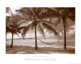 Paradise Lagoon Plakater af David L. Kluver