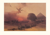 Approach of the Simoon, Desert of Gizeh Prints by David Roberts