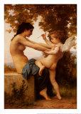Jeune fille se défendant contre l'Amour Affiches par William Adolphe Bouguereau