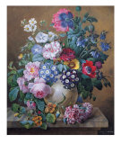Rich Still Life of Summer Flowers Posters by Camille de Chantereine