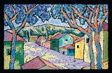 Village Vista Kunstdruck von Brett Varney