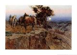 Aliados inocentes Láminas por Charles Marion Russell