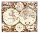 Map of the World Prints by Joan Blaeu
